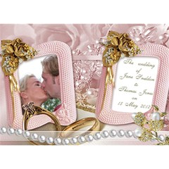 Our Wedding Invitation 3d Card (7x5) By Deborah   You Are Invited 3d Greeting Card (7x5)   Cf25rnughz06   Www Artscow Com Front