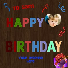 Boy Birthday 3d Card By Deborah   Happy Birthday 3d Greeting Card (8x4)   Cwtazgsz2ex2   Www Artscow Com Inside