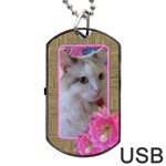 Elegant Dog Tag USB flash (2 Sided) - Dog Tag USB Flash (Two Sides)
