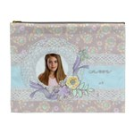 Pastel Floral, Cosmetic Bag (XL)