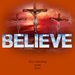 Believe In The Lord 3d Card By Deborah   Believe 3d Greeting Card (8x4)   P0mfslmwn9ad   Www Artscow Com Inside