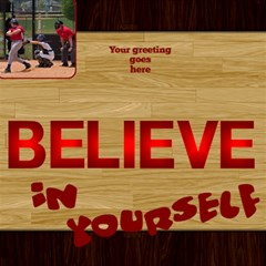 Male Believe In Yourself 3d Card By Deborah   Believe 3d Greeting Card (8x4)   854fekvu9dz0   Www Artscow Com Inside