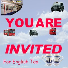 English Tea By Rivke   You Are Invited 3d Greeting Card (8x4)   6y6uigyr9um4   Www Artscow Com Inside