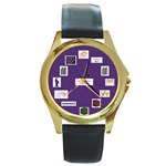 Ehad Mi Yodei a Round Gold Metal Watch