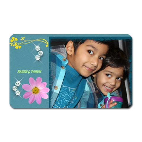 Button 3 By Subramanian   Magnet (rectangular)   H5xk90h38ymi   Www Artscow Com Front