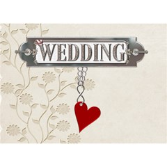 Wedding Heart 3d Card By Lil    Heart 3d Greeting Card (7x5)   Fifcb9bc7vnp   Www Artscow Com Front