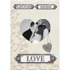 Wedding Heart 3d Card By Lil    Heart 3d Greeting Card (7x5)   Fifcb9bc7vnp   Www Artscow Com Inside