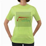 Cosmos Women s Green T-Shirt