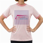 Cosmos Women s Fitted Ringer T-Shirt