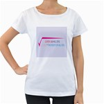 Cosmos Maternity White T-Shirt