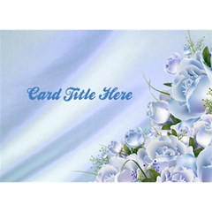General Purpose Blue Flower 3d Card By Deborah   Circle Bottom 3d Greeting Card (7x5)   11s70y30lblr   Www Artscow Com Front