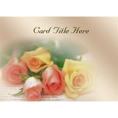 Rose General Purpose Invitation 3d (7x5) By Deborah   You Are Invited 3d Greeting Card (7x5)   Aqyvje767y0o   Www Artscow Com Front
