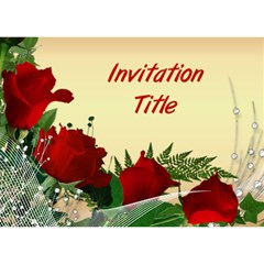 Red Rose General Invitation 3d Card By Deborah   You Are Invited 3d Greeting Card (7x5)   Te8jvyufjc9w   Www Artscow Com Front