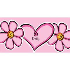 Named Pink Heart 3d Invited Card By Deborah   You Are Invited 3d Greeting Card (8x4)   3lwv66izd1qx   Www Artscow Com Front