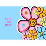 General purpose Flower 3D Card - Circle Bottom 3D Greeting Card (7x5)