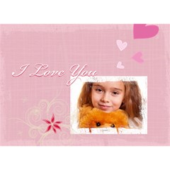 Love You By Joely   Heart Bottom 3d Greeting Card (7x5)   Dgwbomm3tg8c   Www Artscow Com Front