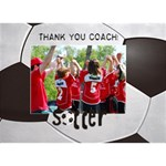 Soccer-Coach-Sports 3D Circle bottom card - Circle Bottom 3D Greeting Card (7x5)