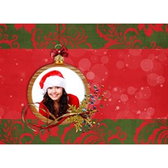 Christmas Holiday 3d Circle Bottom Card By Mikki   Circle Bottom 3d Greeting Card (7x5)   Kue2kct0ev5s   Www Artscow Com Back