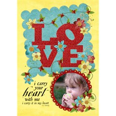 Love Poem, 3d Love Card By Mikki   Love 3d Greeting Card (7x5)   C8rp8skjje8e   Www Artscow Com Inside