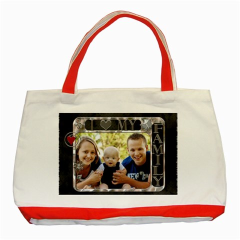 Love My Family Classic Red Tote Bag By Lil    Classic Tote Bag (red)   F3eru0pvqin5   Www Artscow Com Front
