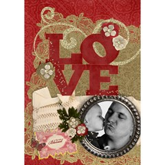 Love 3d Card, Father s Day Mothers Day Any Theme By Mikki   Love 3d Greeting Card (7x5)   92qf7l2nvw8w   Www Artscow Com Inside