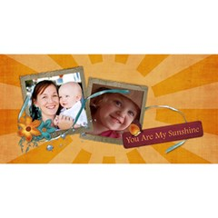 Happy Birthday 3d Card (8x4) You Are My Sunshine/love By Mikki   Happy Birthday 3d Greeting Card (8x4)   U0lwserorh9f   Www Artscow Com Front