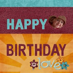 Happy Birthday 3d Card (8x4) You Are My Sunshine/love By Mikki   Happy Birthday 3d Greeting Card (8x4)   U0lwserorh9f   Www Artscow Com Inside