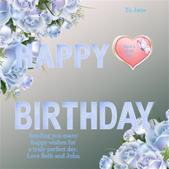 Great Happy Birthday 3d Card By Deborah   Happy Birthday 3d Greeting Card (8x4)   Klkbxp7ltne3   Www Artscow Com Inside