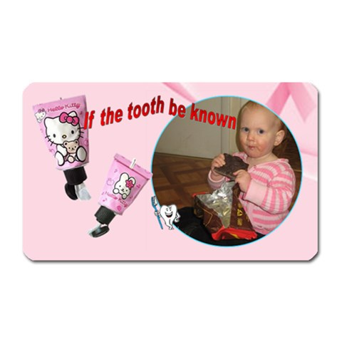 If The Tooth Be Known By Rivke   Magnet (rectangular)   Fzsx9urtqkzq   Www Artscow Com Front