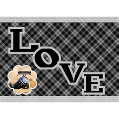 Love In Black And White 3d General Card By Deborah   Love Bottom 3d Greeting Card (7x5)   F85pd717tr5g   Www Artscow Com Front