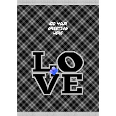 Love in Black and White 3D General Card by Deborah Inside