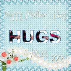 Mothers Day Hugs & Kisses 3d Card By Catvinnat   Hugs 3d Greeting Card (8x4)   Bbk0b626huq4   Www Artscow Com Inside