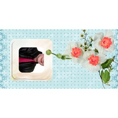 Mothers Day Hugs & Kisses 3d Card By Catvinnat   Hugs 3d Greeting Card (8x4)   Bbk0b626huq4   Www Artscow Com Back