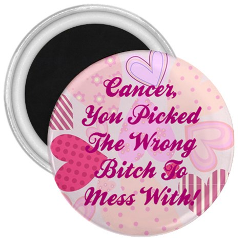 Cancermagnet3 By Amazing Moi   3  Magnet   Pqbw6zpsgs7r   Www Artscow Com Front