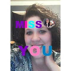 I Miss You By Geraldine Maupin   Miss You 3d Greeting Card (7x5)   4nw4bu70ke15   Www Artscow Com Inside