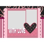 with love - Circle 3D Greeting Card (7x5)