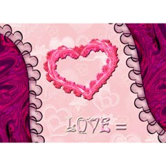 Love Equals You Heart 3d Card Template By Ellan   Heart 3d Greeting Card (7x5)   Gthle0wu70tv   Www Artscow Com Front
