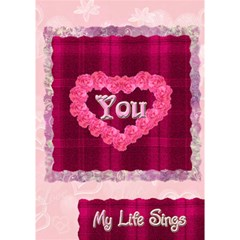 Love Equals You Heart 3d Card Template By Ellan   Heart 3d Greeting Card (7x5)   Gthle0wu70tv   Www Artscow Com Inside