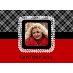 Red Black And White General 3d Card By Deborah   Circle 3d Greeting Card (7x5)   Zfrnidtkbik8   Www Artscow Com Front