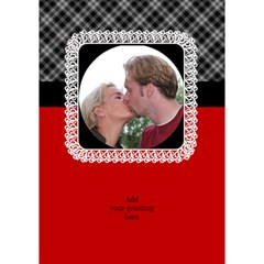 Red Black And White General 3d Card By Deborah   Circle 3d Greeting Card (7x5)   Zfrnidtkbik8   Www Artscow Com Inside