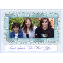 God Gives The Best Gifts, Love, Friendship,fellowship 3d Card By Claire Mcallen   Heart 3d Greeting Card (7x5)   Wn1kno99v84v   Www Artscow Com Front