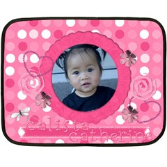 Calista Catherine 1st B Day Blanket By Leah Armstrong   Double Sided Fleece Blanket (mini)   Zi27siebmzzz   Www Artscow Com 35 x27 Blanket Front
