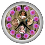 Our Family Wall Clock (silver)