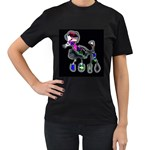 funky black poodle - Women s Black T-Shirt