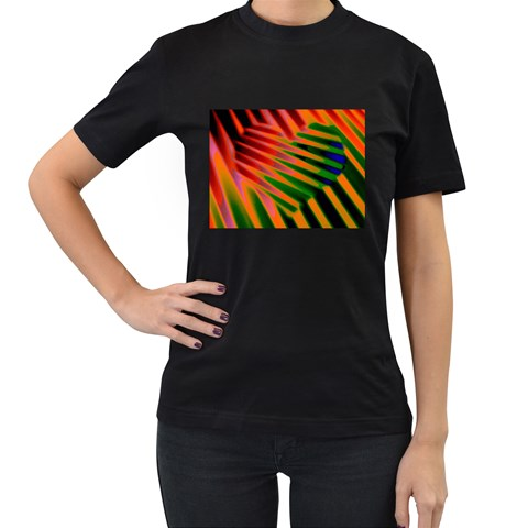 Like A Jungle Drum By Riksu   Women s T Shirt (black)   3ut3o21qewpv   Www Artscow Com Front