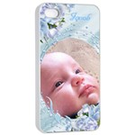 Apple iPhone 4/4 seamless Case - Precious Boy - Apple iPhone 4/4s Seamless Case (White)