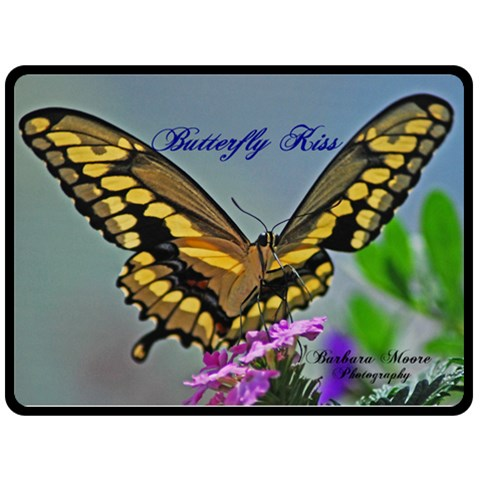 Swallowtale Butterfly Kiss By Barb Moore   Fleece Blanket (large)   O06haz6up07f   Www Artscow Com 80 x60 Blanket Front
