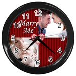 Marry ME - Wall Clock (Black)