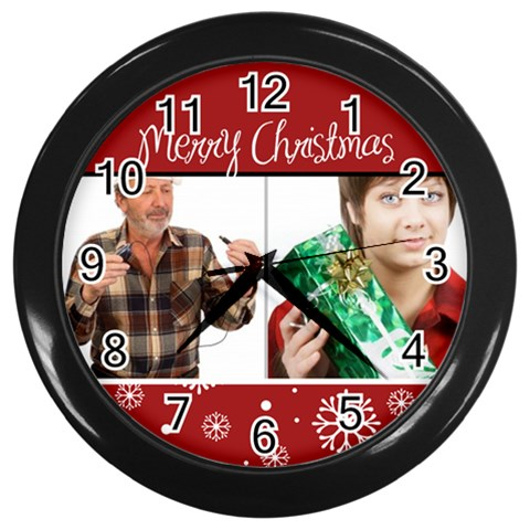Xmas By May   Wall Clock (black)   Earwaqtbgqxd   Www Artscow Com Front