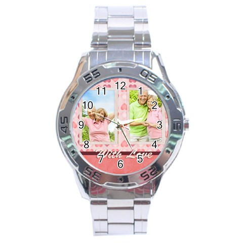 With Love By May   Stainless Steel Analogue Watch   3oqbysik7oeu   Www Artscow Com Front
